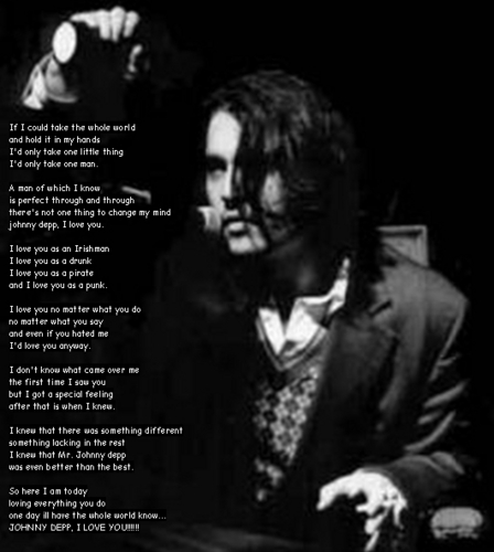 Johnny Depp wallpaper called johnny poem