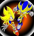 super Jonic and Kenley - sonic-characters fan art