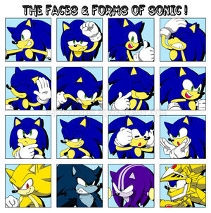 the faces and forms of sonic the hedgehog