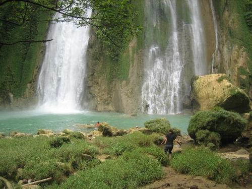 ujung genteng ( beautifull water fall) it in sukabumi.