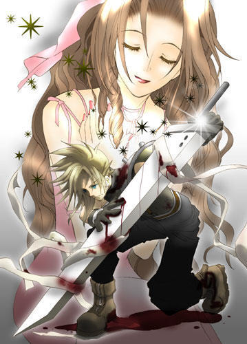 Aerith with बादल