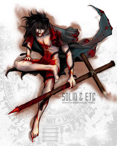 Alucard - nude and bloody
