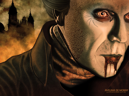 An artwork inspired kwa Bram Stokers Dracula