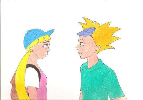 Arnold and Helga Stare at Each Other