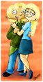 Arnold and Helga as Teens - hey-arnold fan art