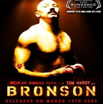 Tom Hardy karatasi la kupamba ukuta titled BRONSON