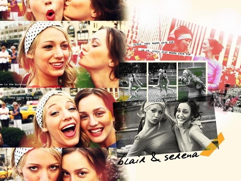 Blair and Serena - serena-and-blair wallpaper