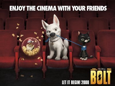 Bolt Watching in Theaters