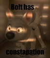 Bolt has Constapation