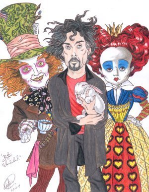 Tim burton kertas dinding called burton in Wonderland