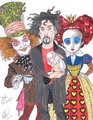Burton in Wonderland - tim-burton fan art