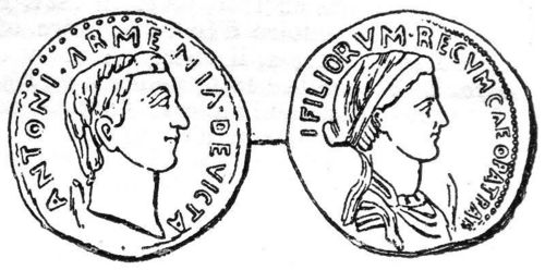COIN OF ANTHONY AND CLEOPATRA