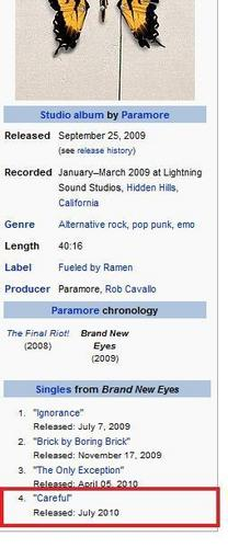 Careful: Paramore's New Single . . .