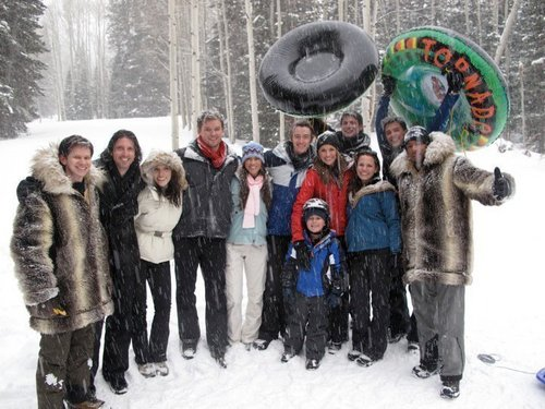 Cast from utah in the snow