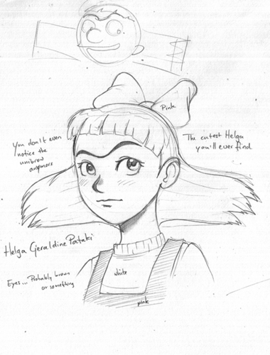 "Character Sketch of ""Cute"" Helga"