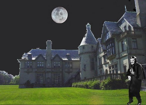 Dark Shadows fond d'écran titled Collinwood at night