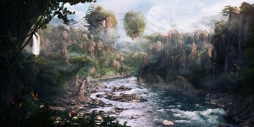 avatar wallpaper called Concept art of Pandora