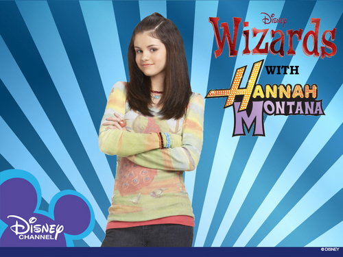 Selena Gomez karatasi la kupamba ukuta entitled DISNEY'S WIZARDS with HANNAH MONTANA - A NEW SERIES BEGINS!!!!!!