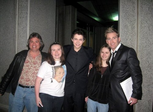 Damian McGinty wallpaper titled Damian, Paul, Me, my friend, and my dad