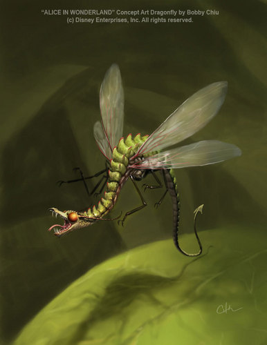 Alice in Wonderland (2010) wallpaper entitled Dragonfly Concept Art