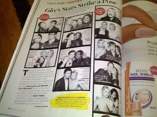 Glee in InStyle April 2010