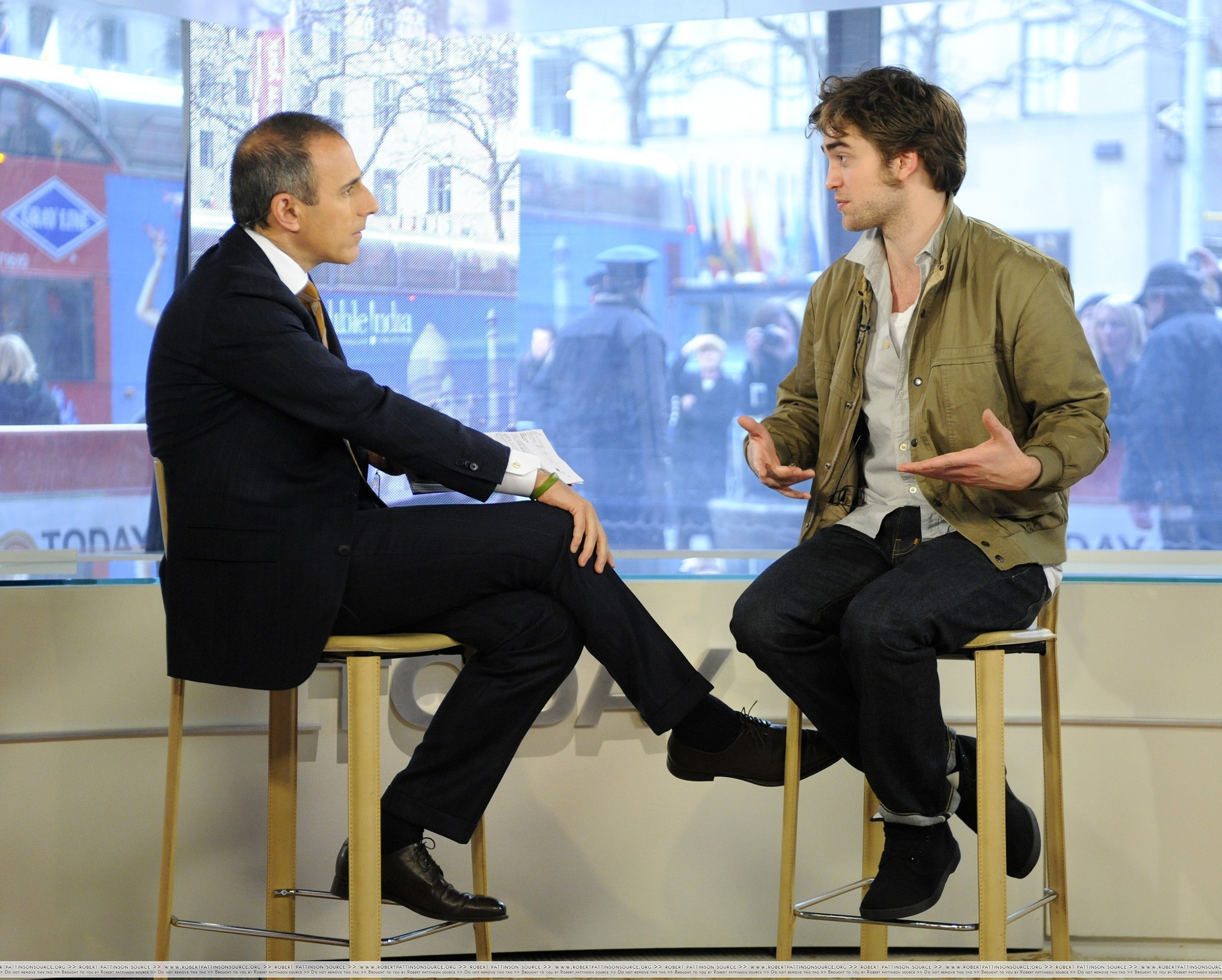 "HQ photos Of Robert Pattinson On ""The Today Show"""