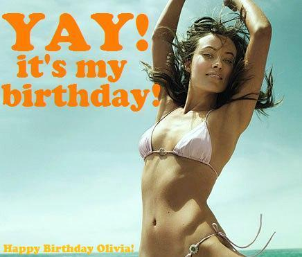Happy Birthday Olivia! ~ A Birthday Card for Olivia Wilde