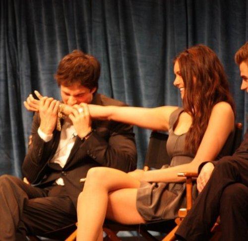 Ian bites Nina