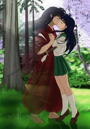 Inu And Kagome Kiss Inuyasha Photo 10868849 Fanpop