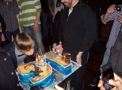 J. Bieber blowing out the candles on his birthday!