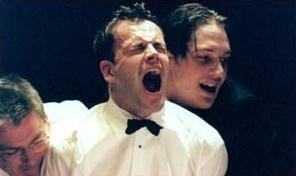 """Jonny in a play called """"Festen"""""""