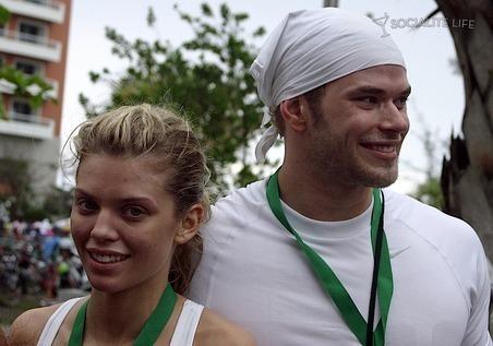 Kellan & AnnaLynne @ First Annual Roselyn Sanchez Triathlon Run for Life Race