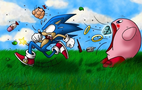 Kirby and Sonic