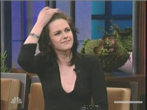 Kristen on The Tonight 表示する With カケス, ジェイ Leno
