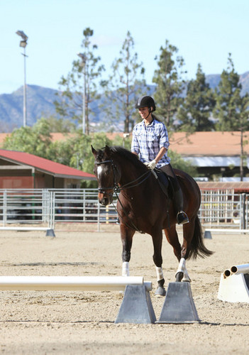 Leona Riding A Horse!
