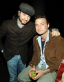 Liev with friend Fisher Stevens in 06
