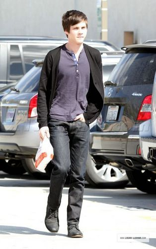 Logan Lerman in Beverly Hills