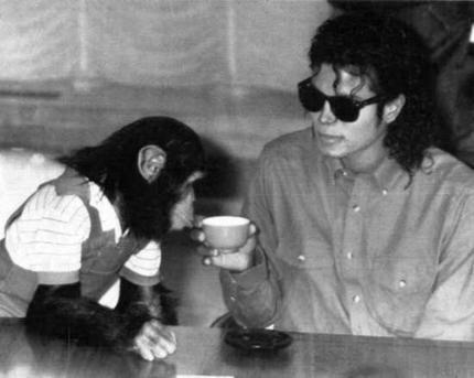 MJ & Bubbles :)
