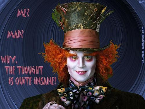 Me? Mad? - mad-hatter-johnny-depp Wallpaper