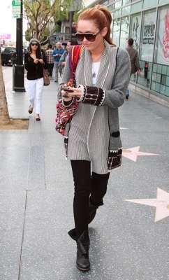 Miley out in Hollywood