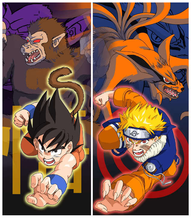 naruto and dragon ball