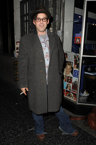 Nicholas Brendon (AKA Kevin Lynch!) leaves the Stella Adler Theatre in Hollywood
