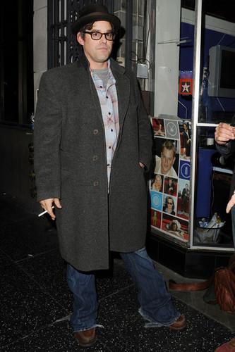 Nicholas Brendon (AKA Kevin Lynch!) leaves the Stella Adler Theatre in Hollywood