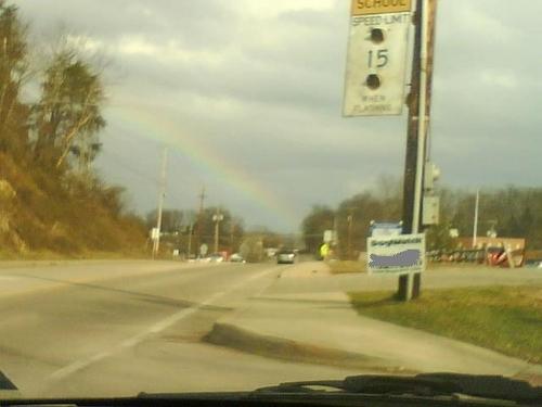 Omg, a rainbow.