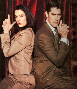 Paget and Thomas as Emily and Hotch