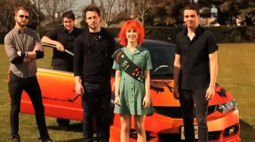 Paramore and the car