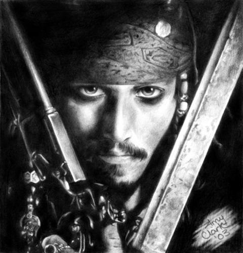 Pencil Drawing - Jack Sparrow
