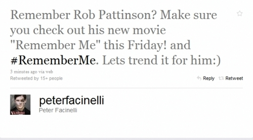 Peter Facinelli Shows Support For Robert Pattinson's New Movie 'Remember Me'