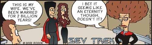 Q on Voyager Cartoon