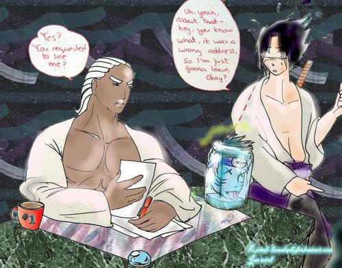 Sasuke meets raikage
